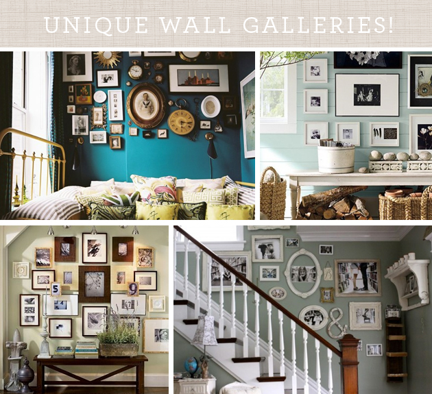i am always so inspired by creative and unique approaches to framing and gallery hanging - Unique Picture Frames
