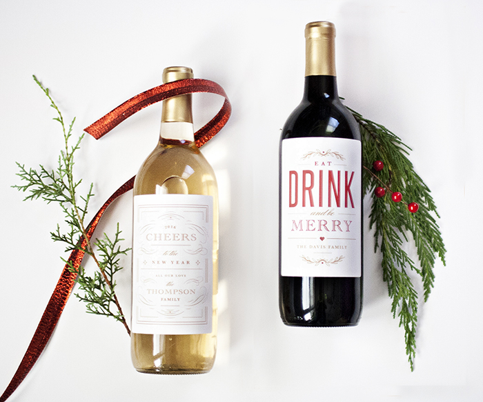 holiday wine label printable