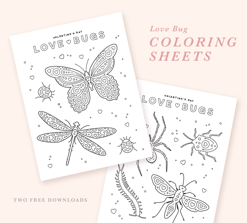 Love Bugs Free Coloring Sheet Printable National Association Of