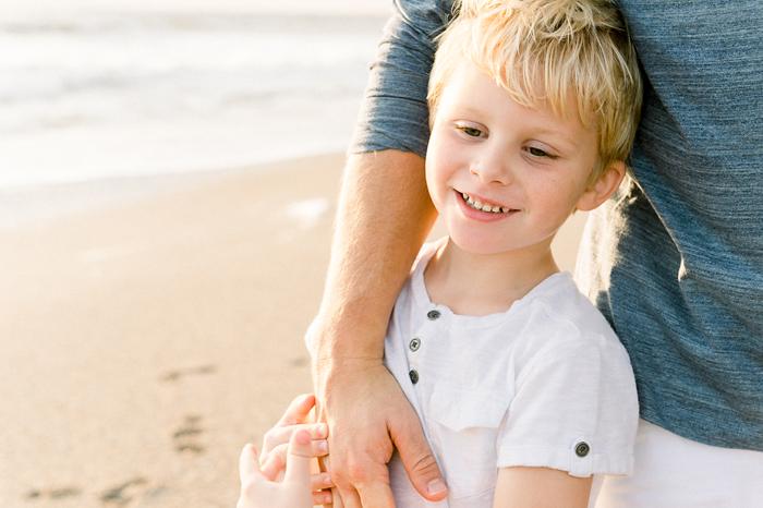 blonde boy with dad