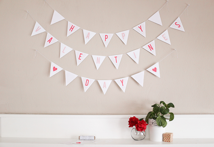 photograph relating to Happy Valentines Day Printable titled Valentines Working day Printable: Do-it-yourself Bunting! - Countrywide