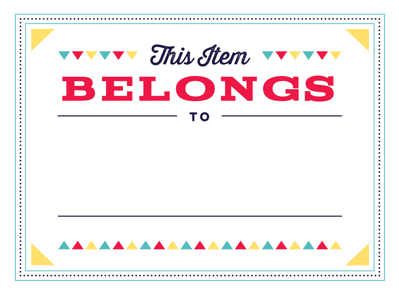 free printable labels for school supplies