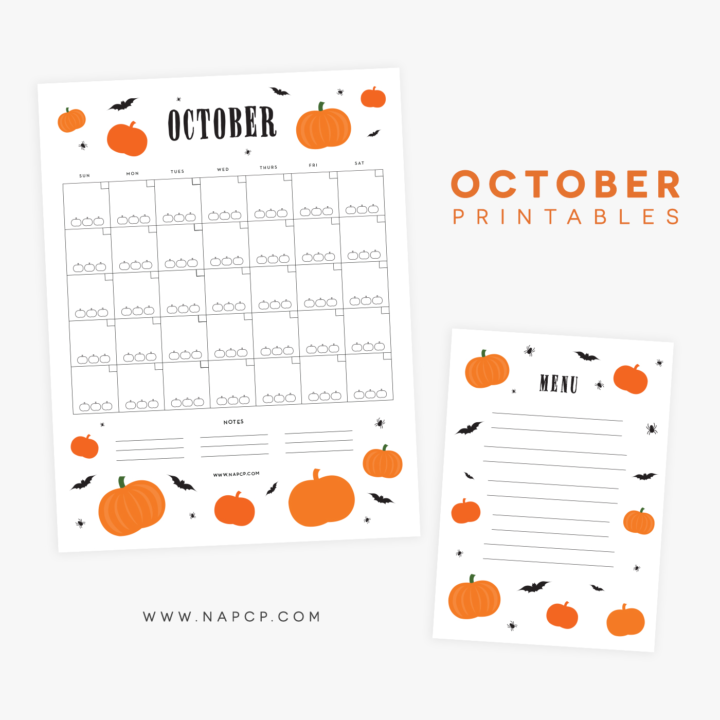 photo relating to Menu Printable named Oct Printable Menu and Calendar - Countrywide Affiliation