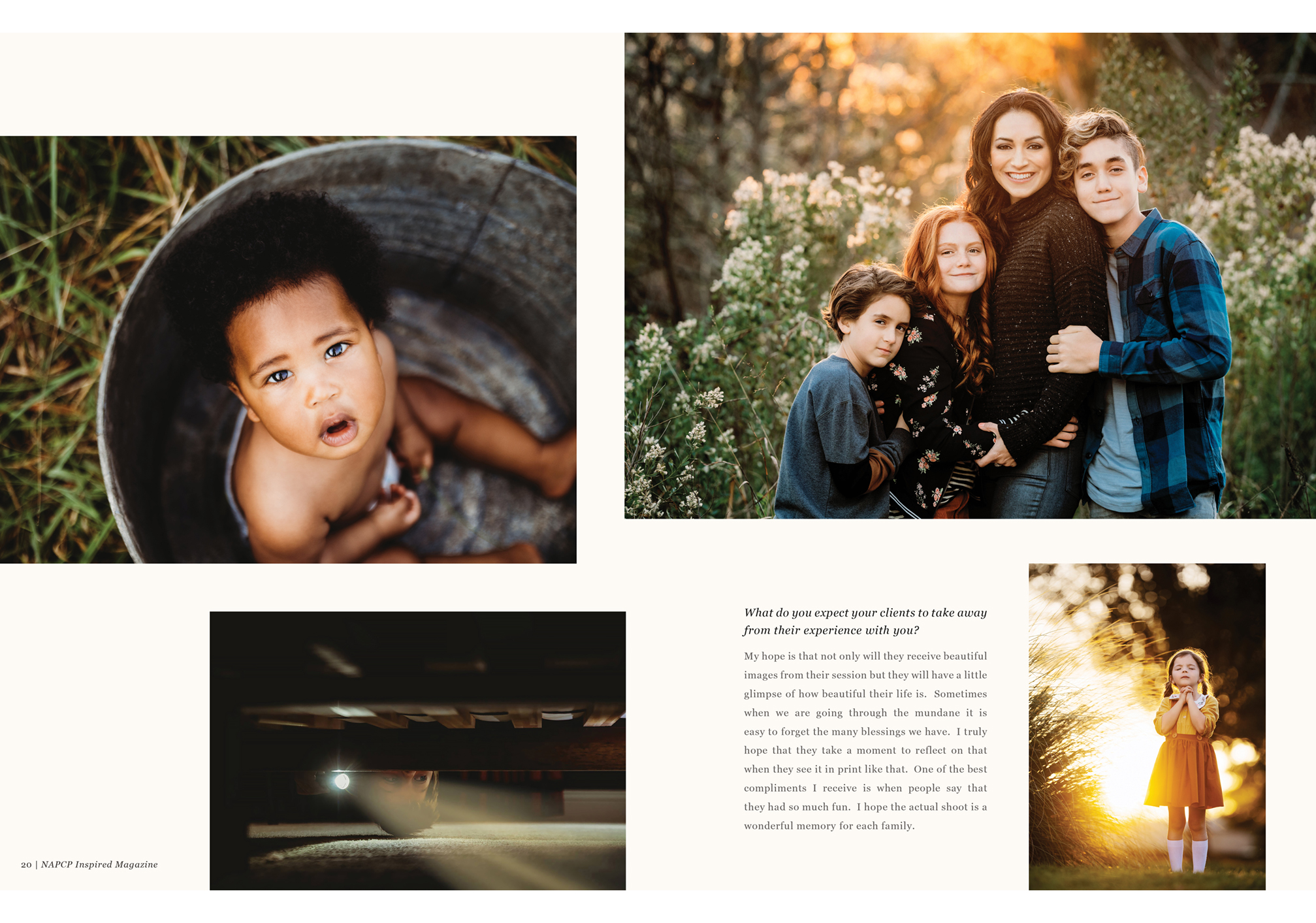 Weslie Woodley photography magazine spread