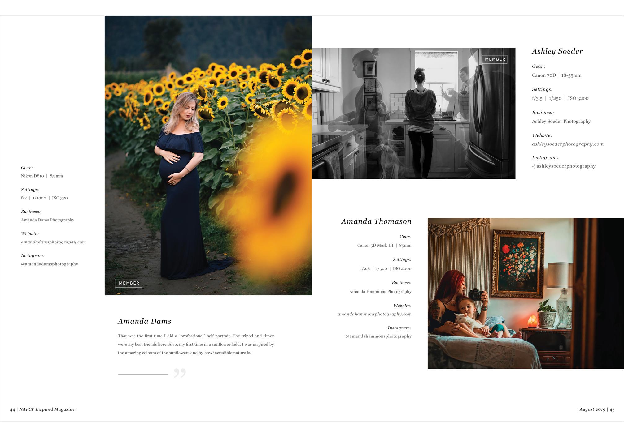 Inspired Magazine, Amanda Dams, Ashley Soeder, Amanda Thomason