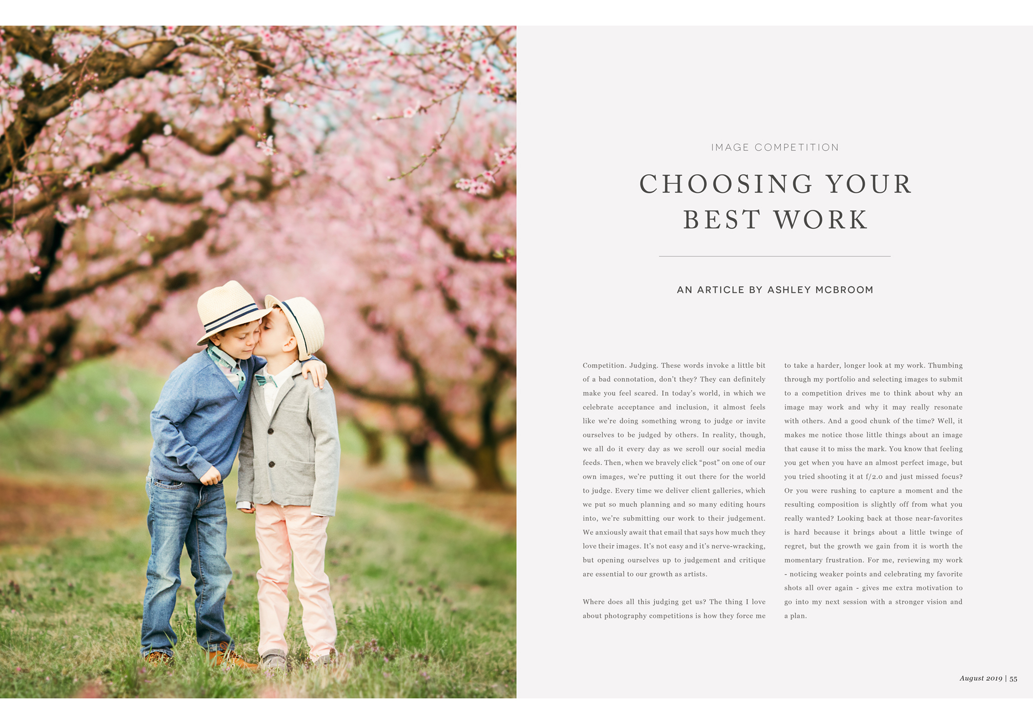 Inspired Magazine, Image Competition, Choosing Your Best Work, An Article by Ashley McBroom