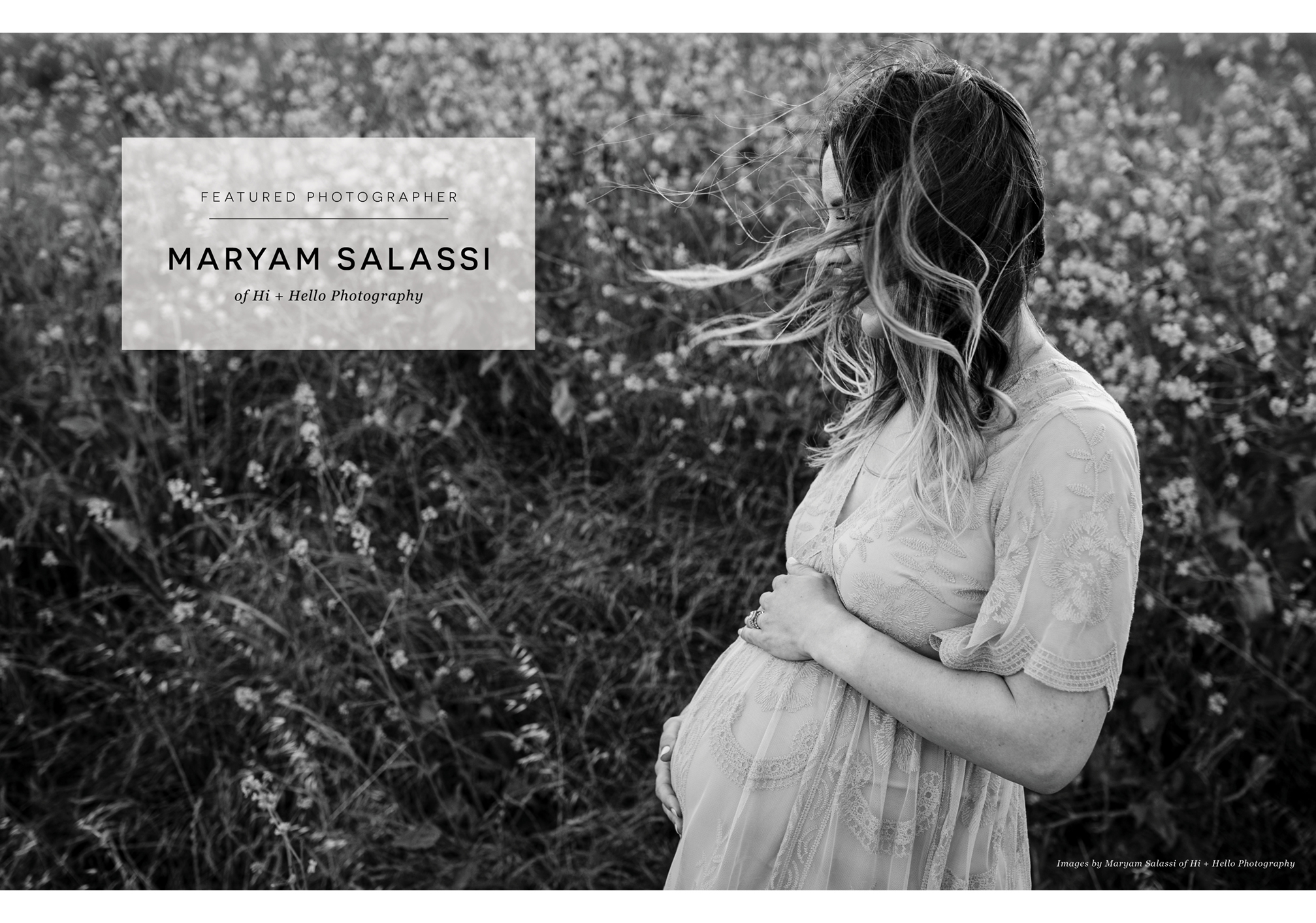 featured photographer Maryam Salassi of Hi + Hello Photography