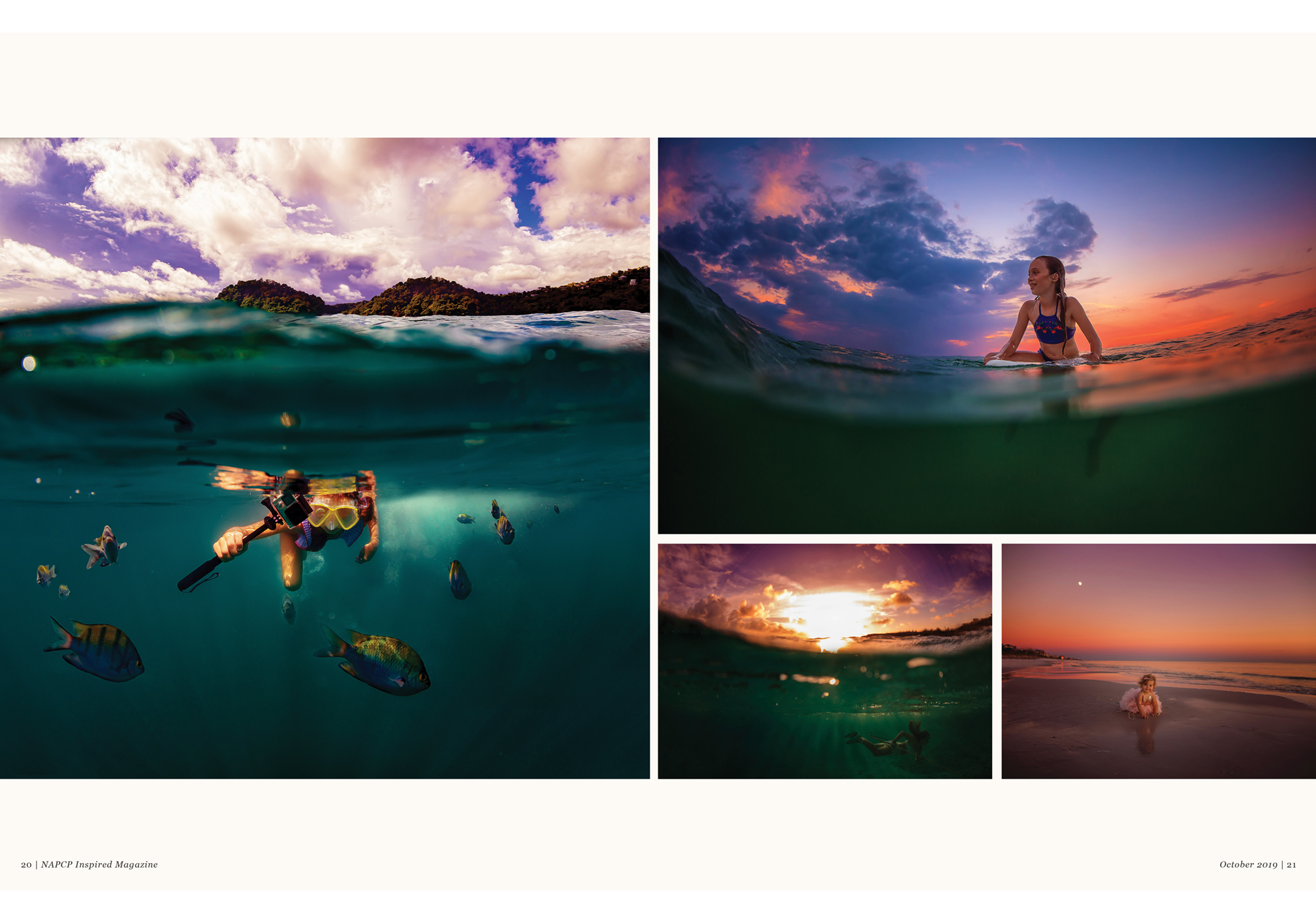 underwater imagery spread photographed by Kansas Pitts
