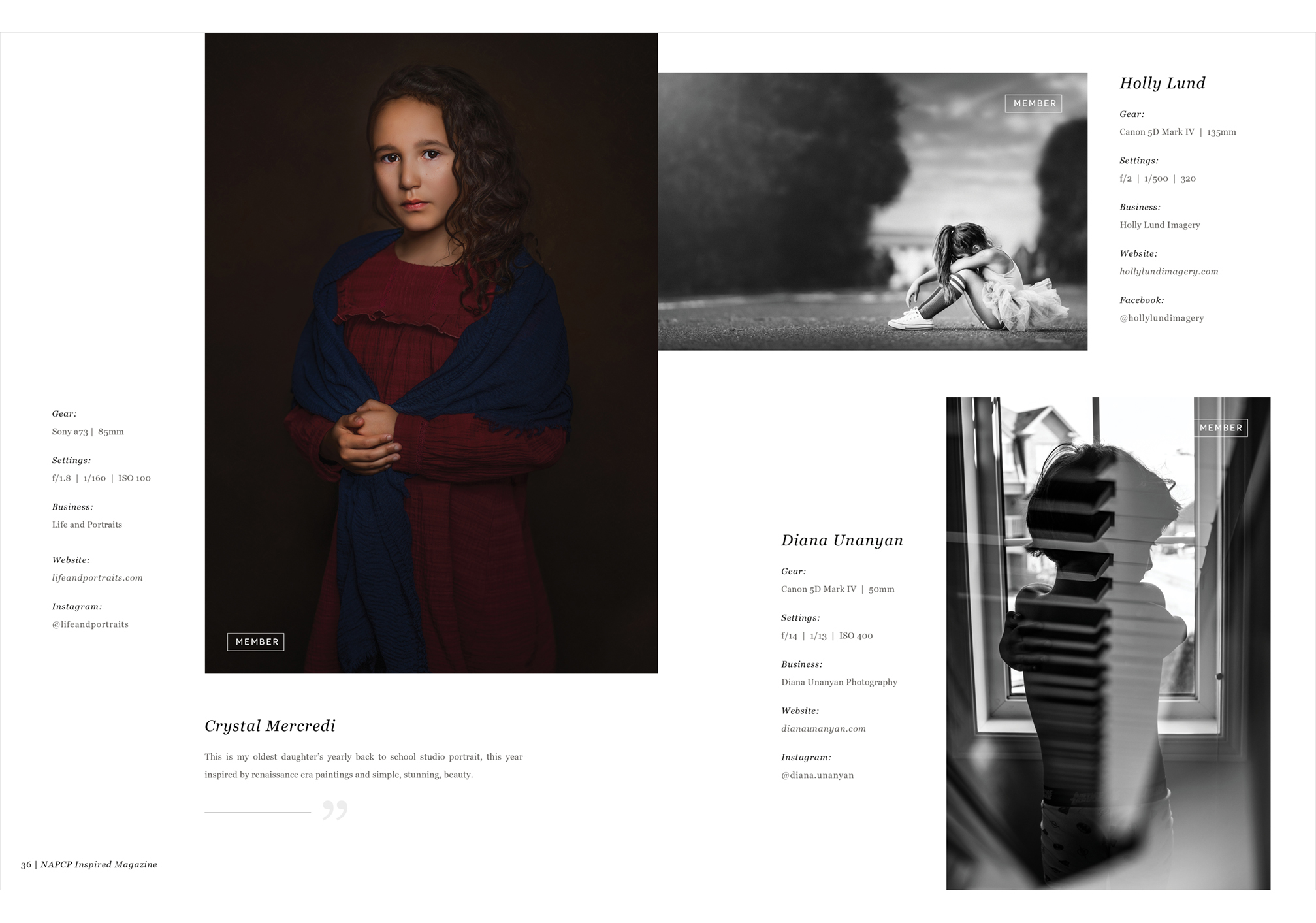 images by Crystal Mercredit, Holly Lund, and Diana Unanyan