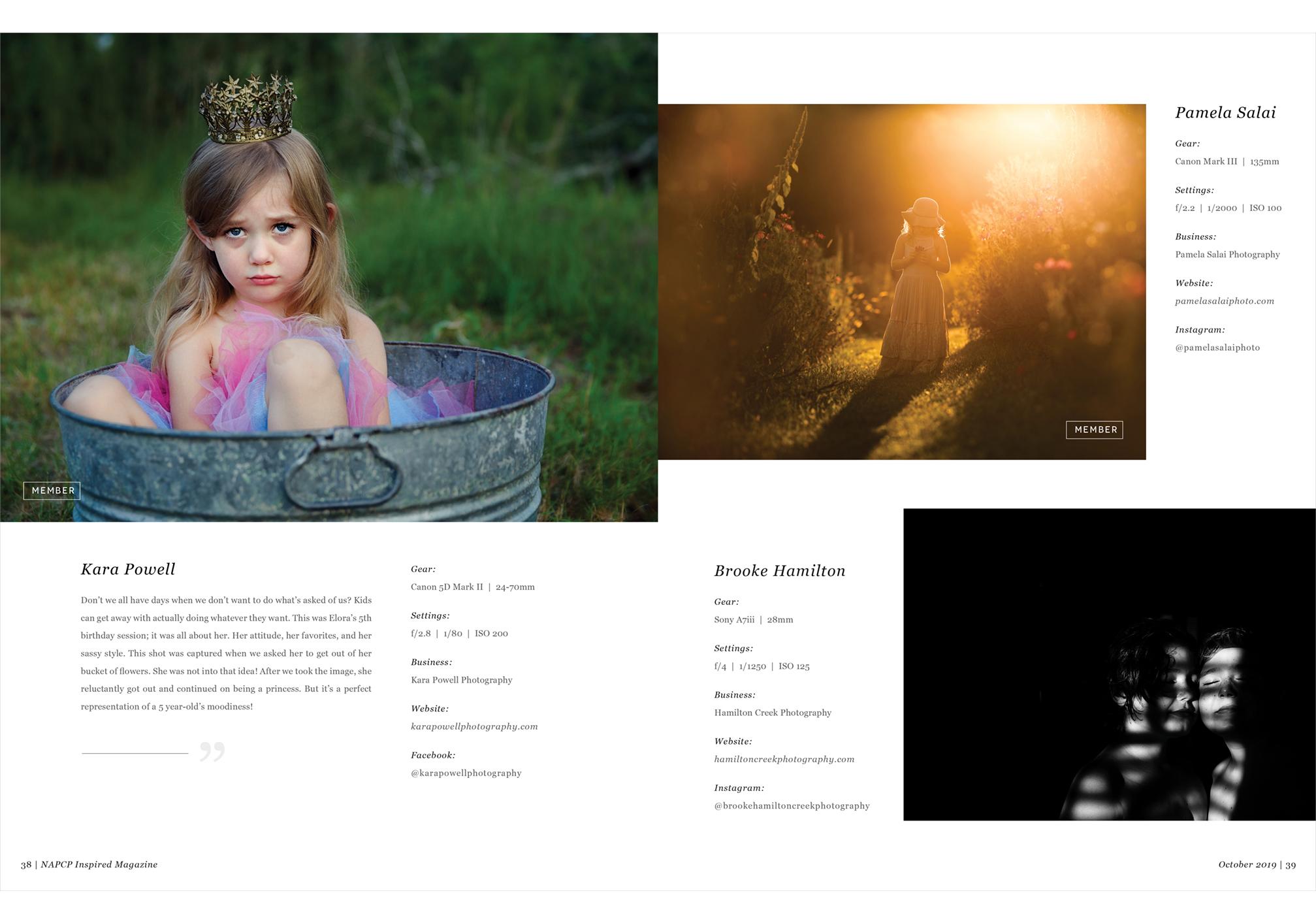NAPCP Inspired Magazine, October 2019, Kara Powell, Pamela Salai, Brooke Hamilton