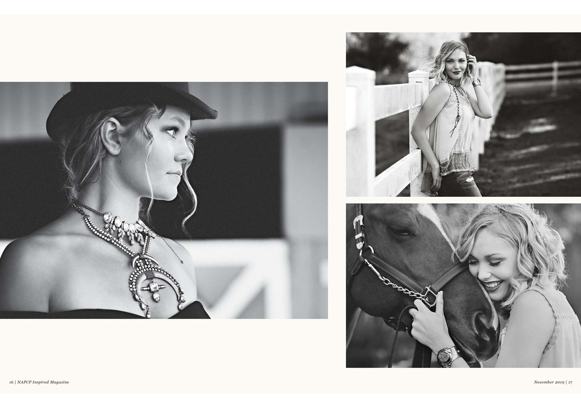 Featured Photographer Sara Hill of Sara Hill Photography, black and white senior equestrian images