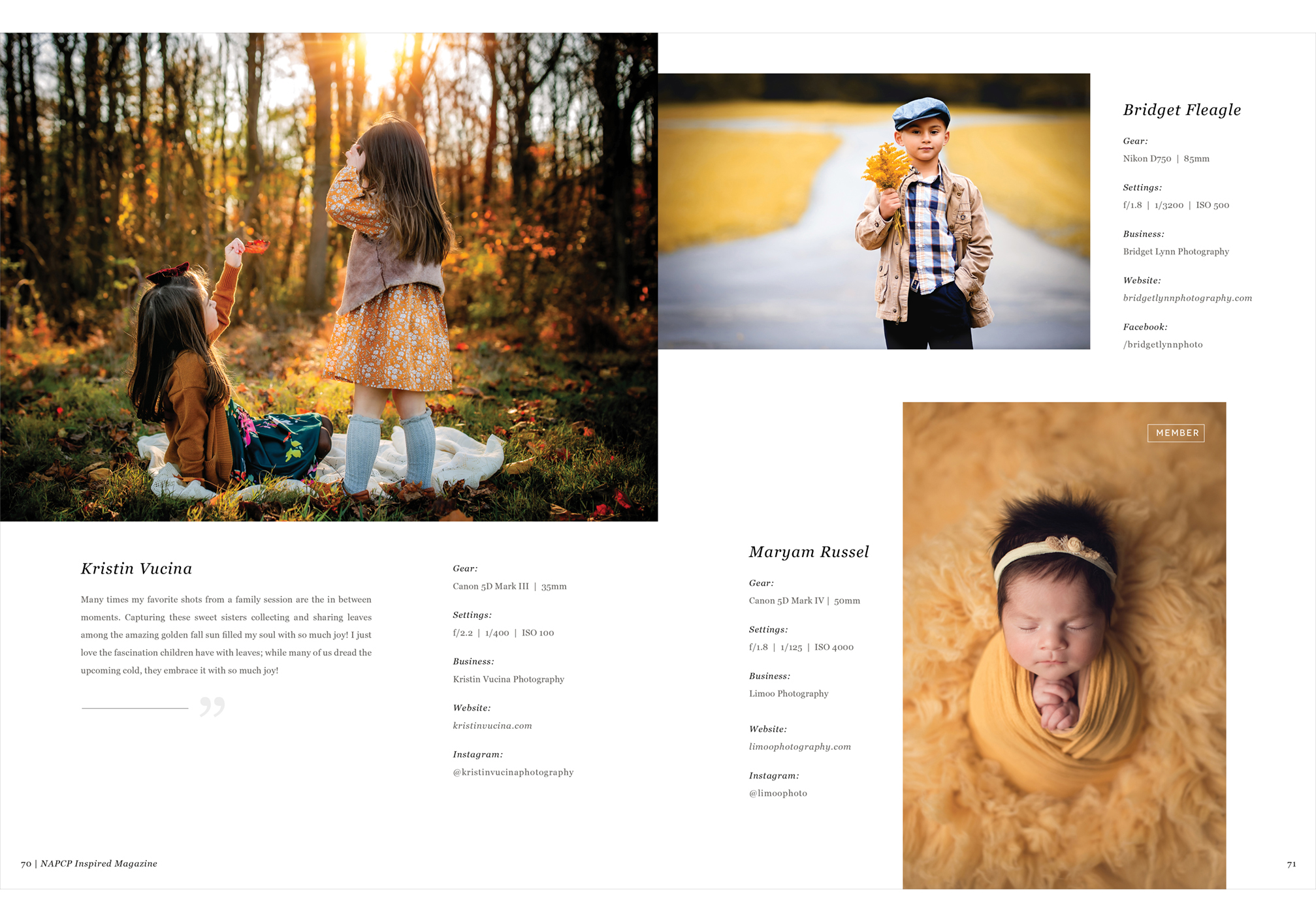 Featured Phtographers Gold
