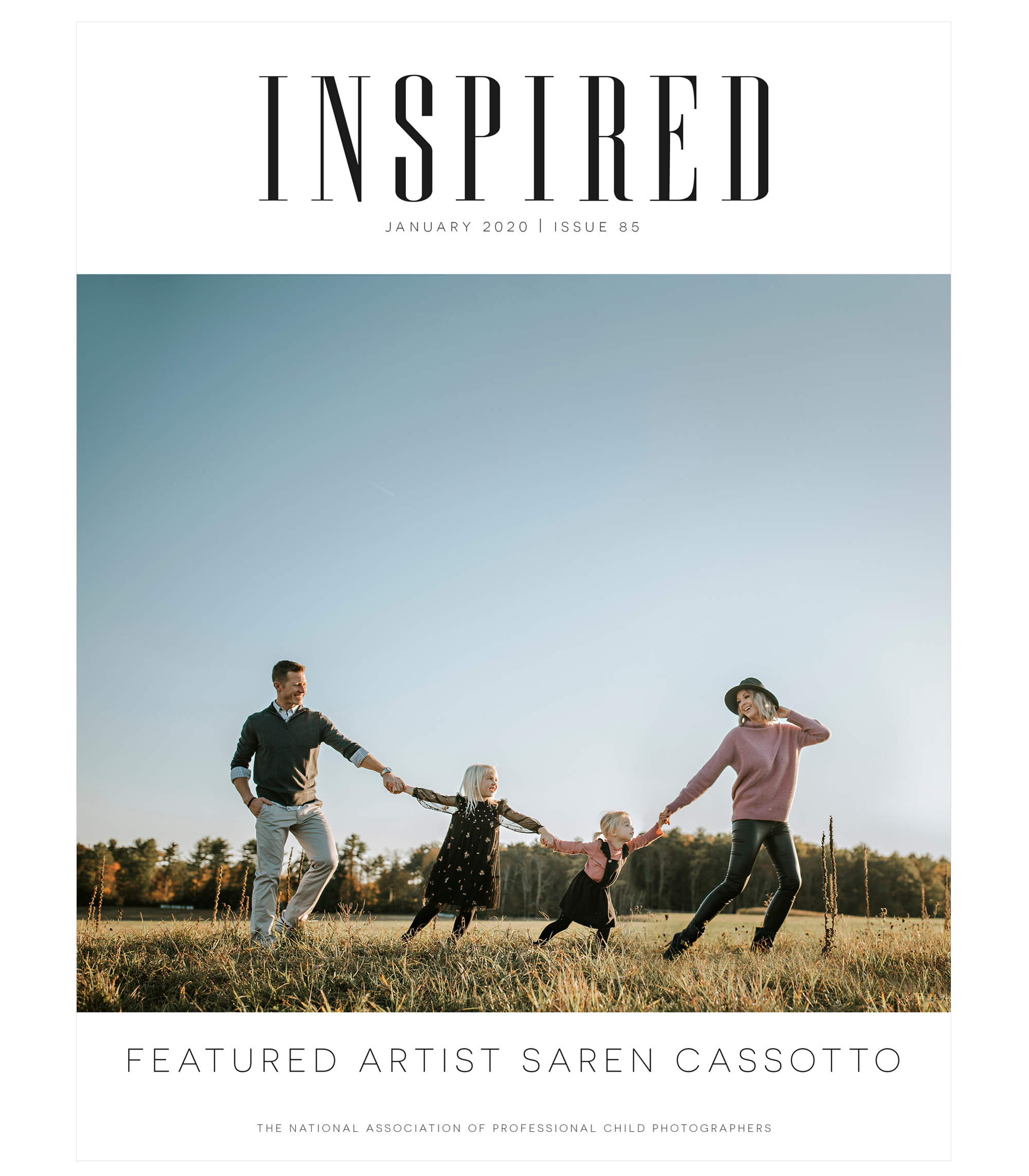 Inspired January 2020, Featured Artist Saren Cassotto, The National Association of Professional Child Photographers