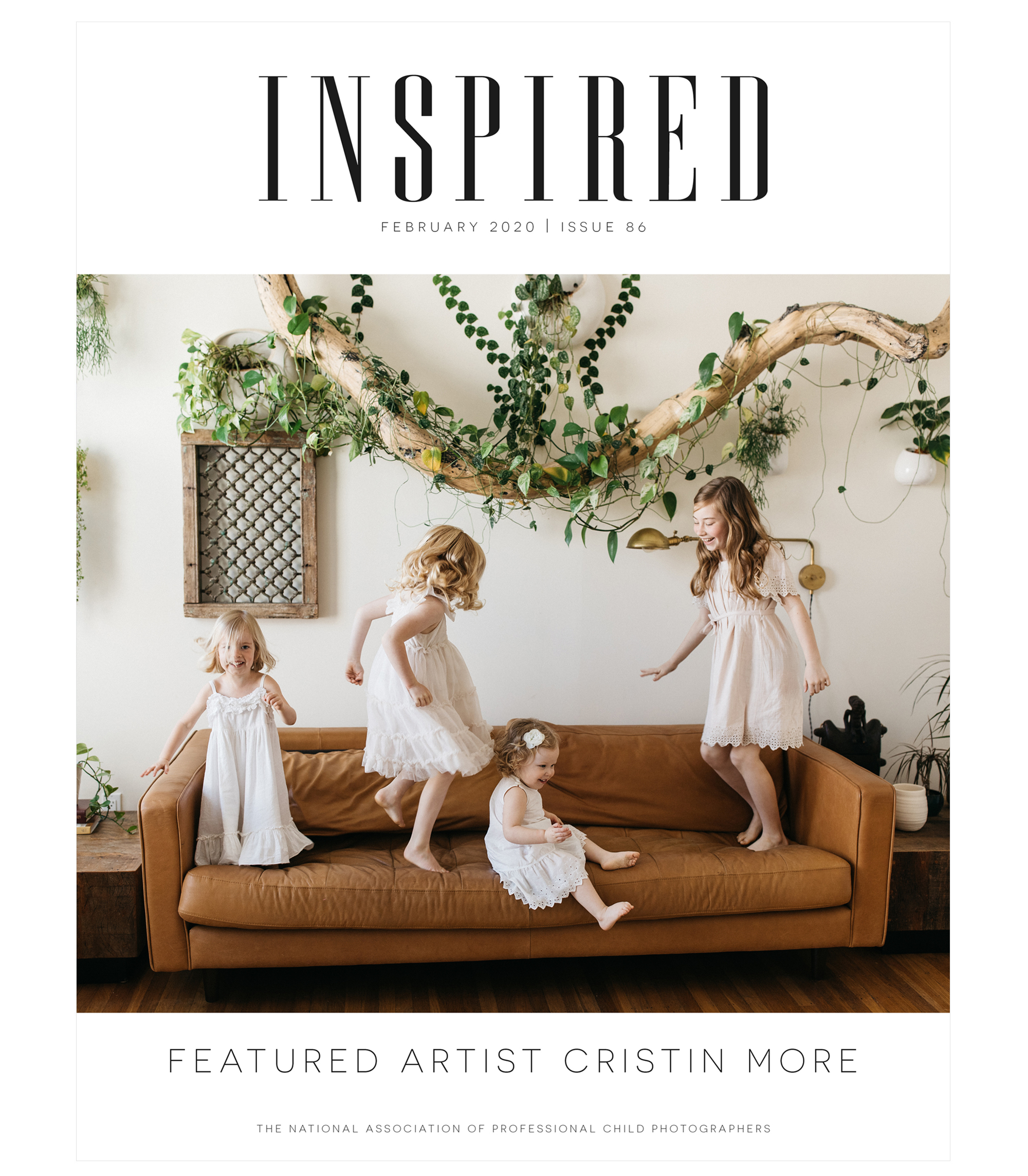 Inspired, February 2020, Featured Artist Cristin More, The National Association of Professional Child Photographers