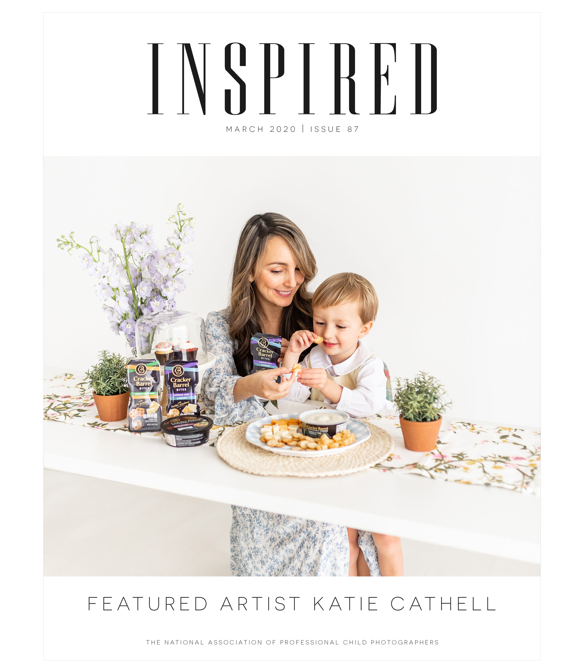 Inspired March 2020, Issue 87, Featured Artist Katie Cathell, The National Association of Professional Child Photographers