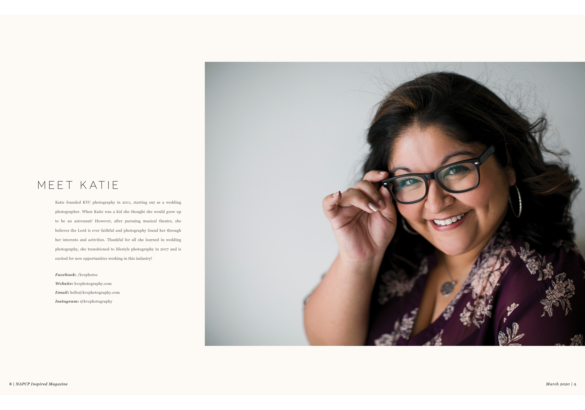 Katie Cathell, March 2020 Inspired Magazine