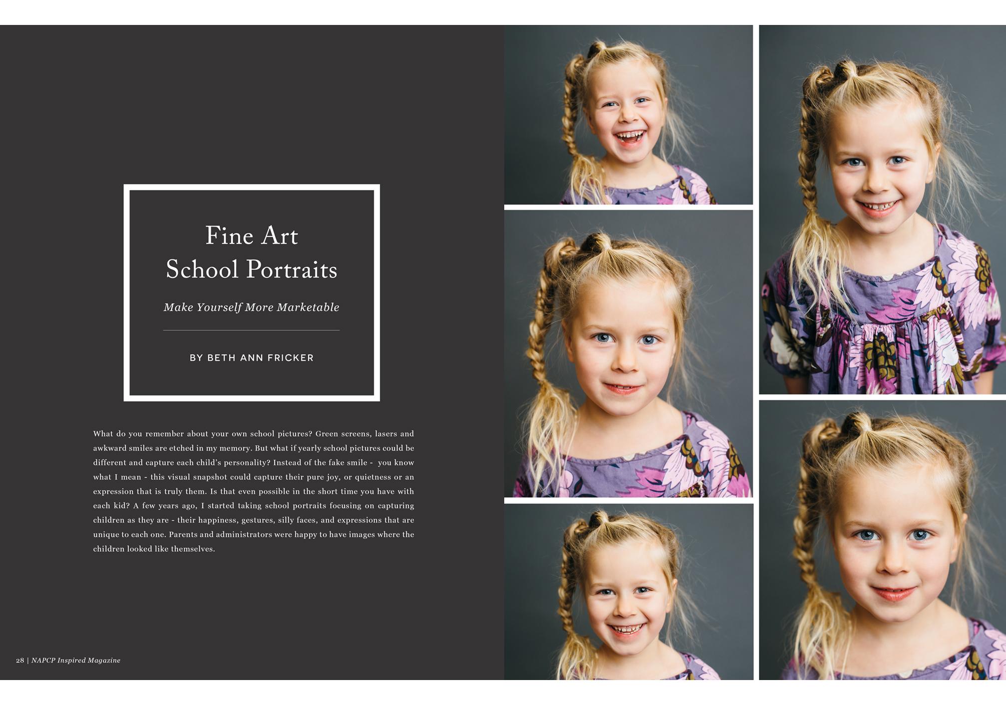 Fine Art School Portraits, Beth Ann Fricker