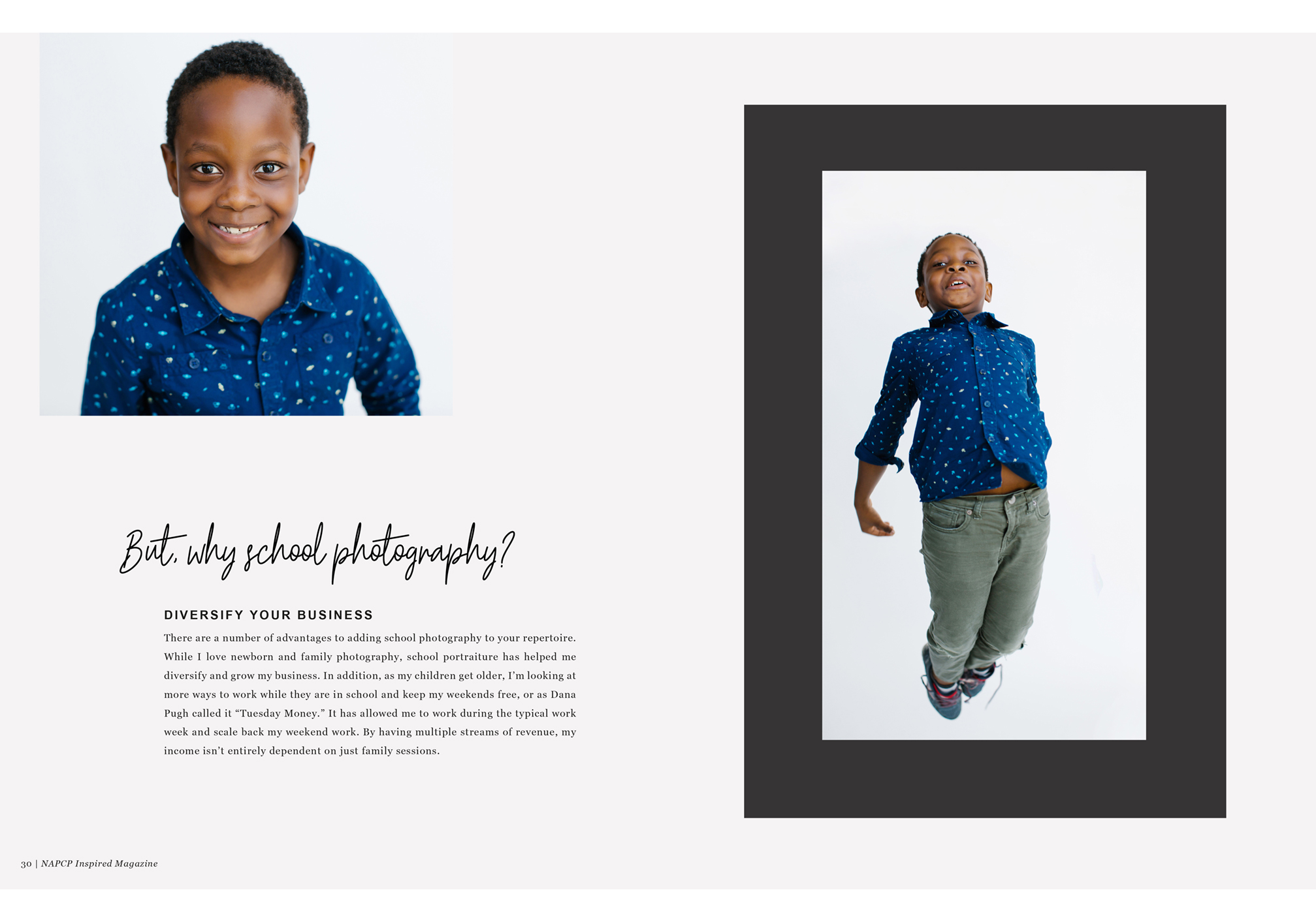 school photography, diversify your business, NAPCP Inspired Magazine