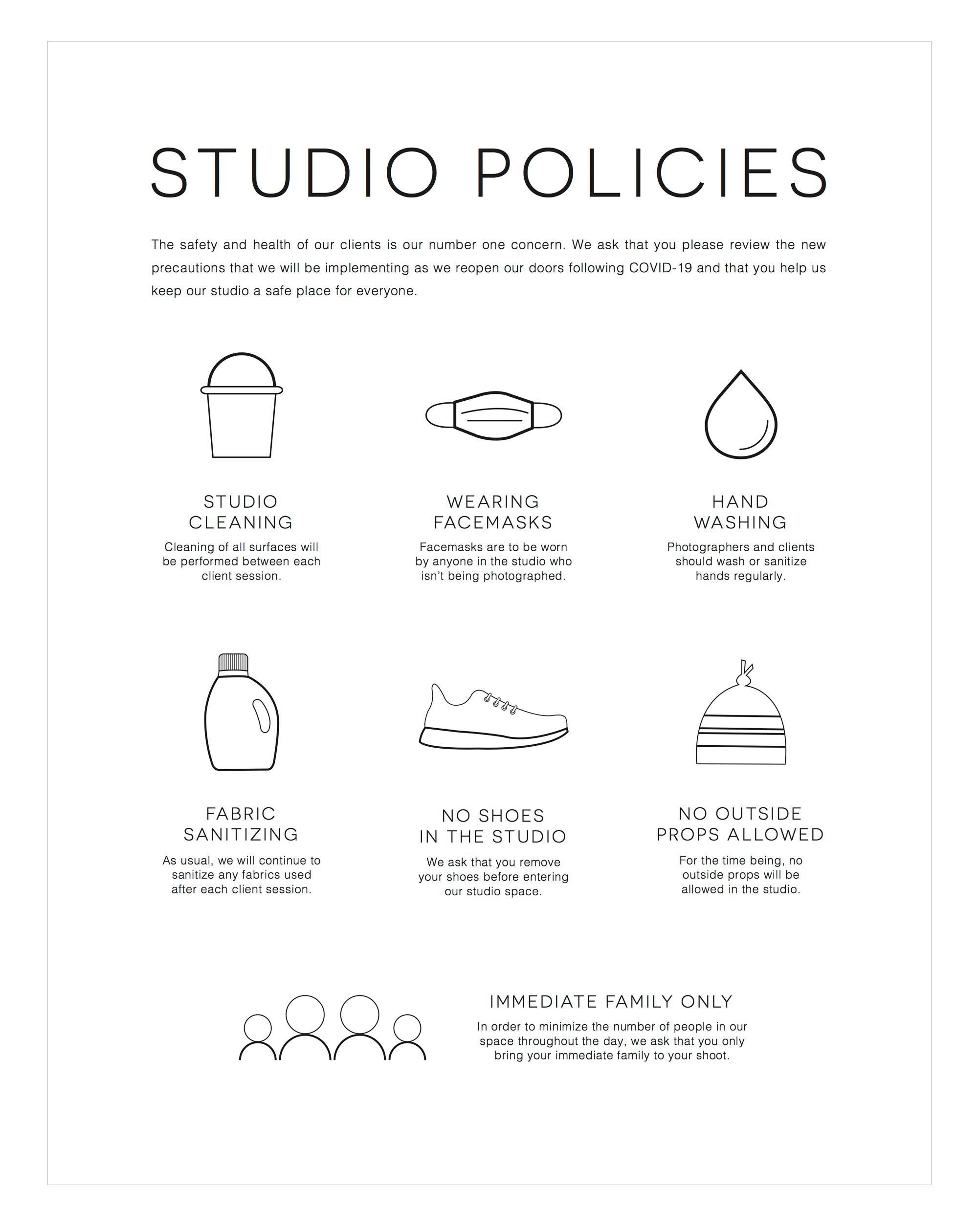 studio policy covid-19 poster